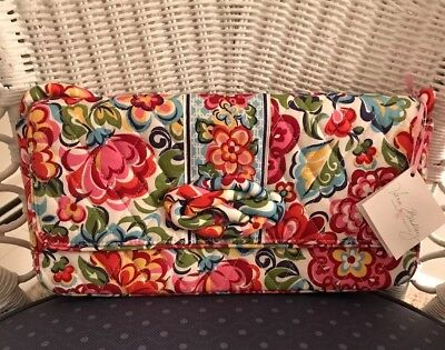 Just Hope Breast (Vera Bradley HOPE GARDEN Knot Just A Clutch Bag NWT Breast Cancer Awareness  )