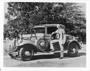 1930 Durant Car, 614 Roadster & W.C. Durant, Factory Photo (Ref. #39862)