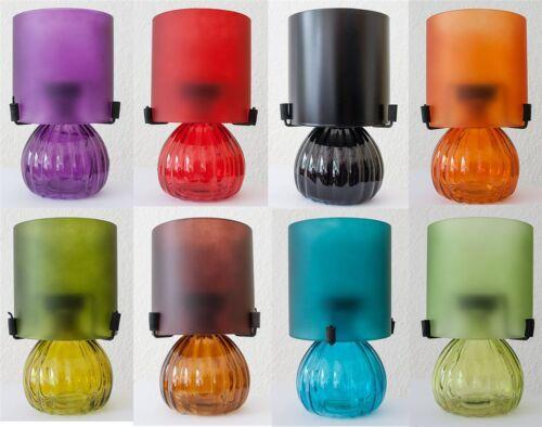2 x Teelichtlampe Kerzenhalter 8 Farben Kerzen Glas-Lampe Lampenschirm Teelicht
