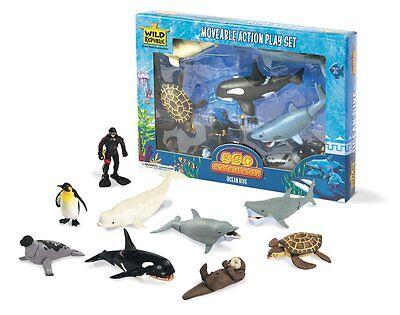 Wild Republic Ocean Dive Animals Figures Set Animal Kids Eco Nature Zoo Toys Toy
