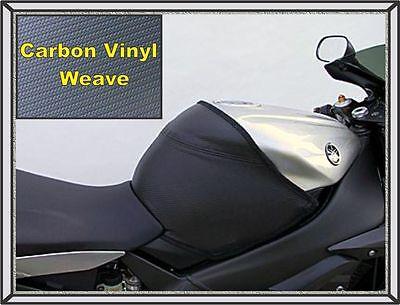 2003   2005 Yzf R6 Targa Tank Cover Black Carbon Weave Finish Premium Vinyl