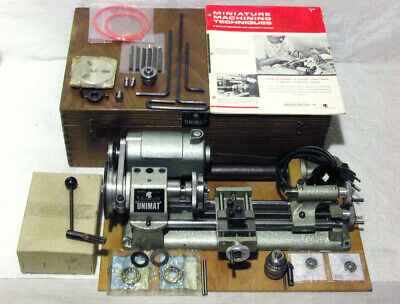 Vintage Unimat Mini Lathe - Cast Iron Version With Accessories