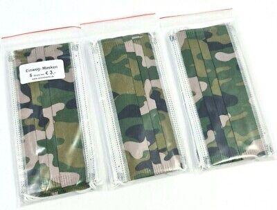 15x Masken Einwegmasken Mundschutz Spuckschutz OP Mask Maske Mund Abdeckung GRNC