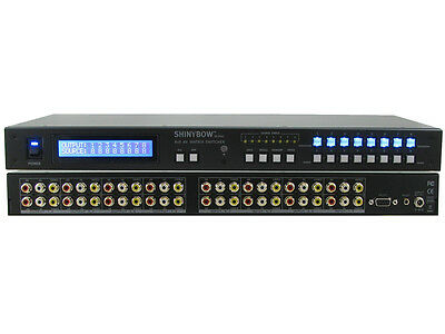 Shinybow SB-5548 8x8 Composite Video 3-RCA AV Matrix Switcher with Stereo Audio Av Matrix Switcher
