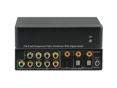 1x2 Component Video +Digital Audio Splitter Distribution Amplifier ANI-1X2COMPDA ()