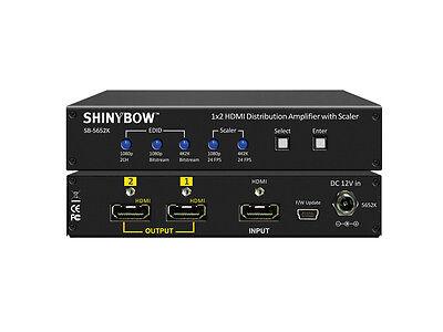 Shinybow SB-5652K 1x2 HDMI Splitter/Distribution Amplifier UHD 4K2K Video Scaler