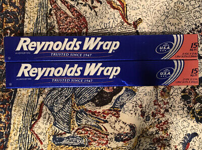 Lot Of Two 2 Reynolds Wrap Standard Aluminum Foil Roll 12 X 15 Ft