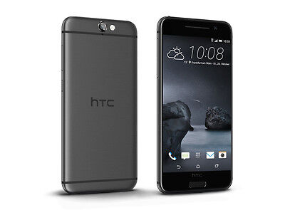 "Htc One A9 32Gb Silver - 5"" 3GB RAM ATT GSM Unlocked Carbon Gray. Preowned."