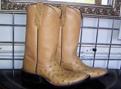 Antik Cowboy-stiefel (Rios Of Mercedes Antik Sattel Voll Quill Strauß Cowboystiefel Herren 6 B Lady 7)