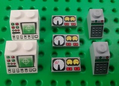 *NEW* Lego Computer Panels / Key Pad Lock Bricks Meter Badges Bulk Mix Pack