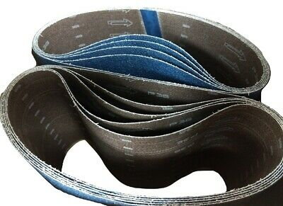 Blue Zirconia 8 X 29.5 36 Grit Floor Sanding Belts - Hummel Lagler Box Of 10
