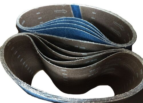 "Blue Zirconia 8"" x 29.5"" 36 Grit Floor Sanding Belts - Hummel Lagler (Box of 10)"