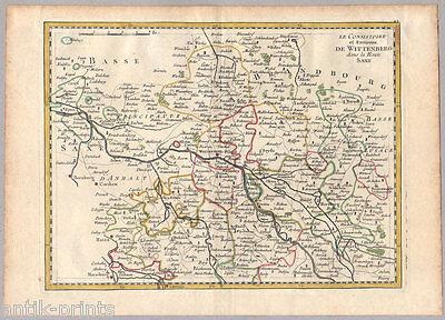 Wittenberg - Sachsen-Anhalt - Karte aus Atlas Portatif - Le Rouge 1759 - Map