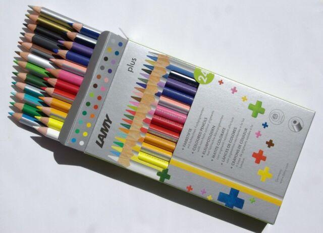 HBW Schule Buntstifte Farbstifte Lamy plus 24 Farben lichtechte Farbpigmente