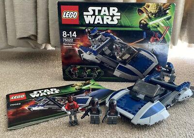 Lego Star Wars 75022 MANDALORIAN SPEEDER 100% Complete Boxed
