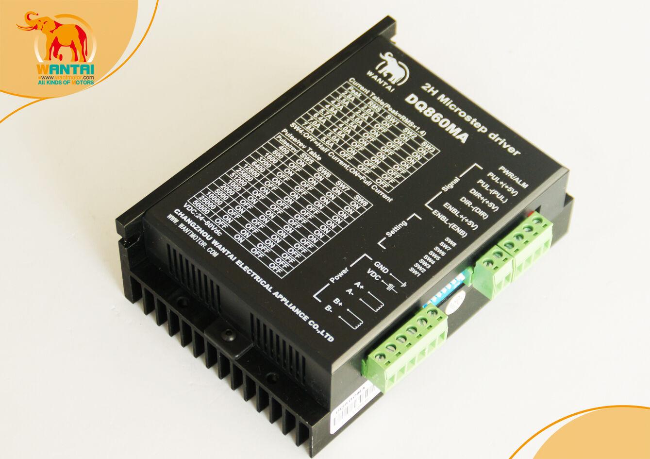 Cnc Stepper Digital Motor Driver 80v/7.8a/256 Micro Free Ship Wantai Dq860ma