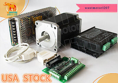 Usa Freewantai 1axis Nema34 Stepper Motor 1232oz-in 5.6a 4-lead Driver Cnc Kit