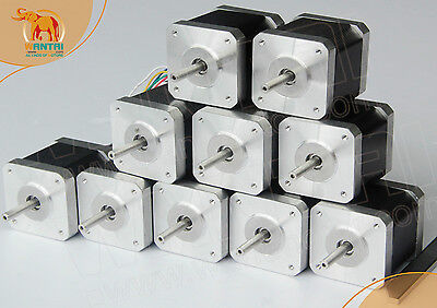 Wholesale-- 10 PCS CNC Nema17 for 1.7A, 4000g.cm, 40mm length, 4-Lead,3D PRINTER