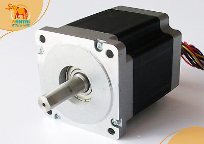 Wantai 1pc Cnc Nema34 Stepper Motor 1232oz-in4-lead5.6a118mm Body Length