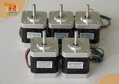 Wantai 5pcs Nema17 Stepper Motor 42byghm809 0.9 4000g.cm 48mm 1.7a 23d Printer