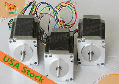 Usa Free Nema23 Stepper Motor Dual Shaft 3n.m425oz-in 115mm Cnc Miling