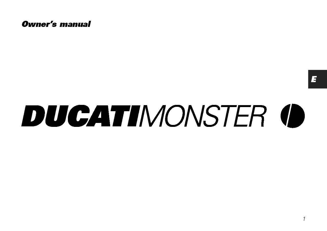 Ducati Owners Manual Book  2002 MONSTER 750