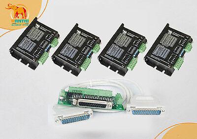 4axis Digital Cnc Stepper Controller 50v4.2a128micro Dq542ma To Nema23 Motor
