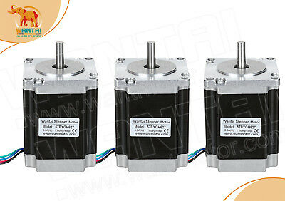 Usa Ship3pcs Wantai Nema23 Stepper Motor 287oz-in3.0a 57bygh627 Cnc Engraver