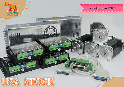 Usa Freewantai 4 Axis Nema23 Cnc 57bygh115-003b 3a 425oz Dual Shaftdriver Kit