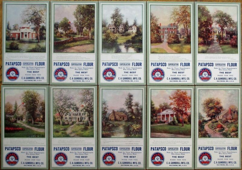 Patapsco Flour 1910 SET OF TEN DIFFERENT Advertising Blotters - Baltimore, MD