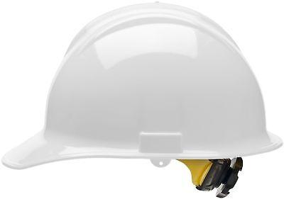 Bullard Cap Style Hard Hat with 6 Point Ratchet Suspension, White