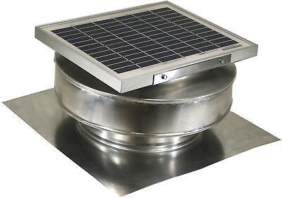 Round Back Vent Solar Fan 8 In Roof Ventilator 5w 12v 365cfm Active Ventilation