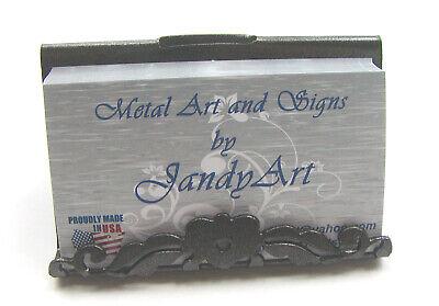 Decorative Metal Business Card Display Holder For Desk