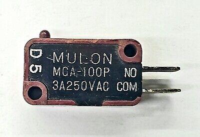 Mulon Mga-100p Spst- Off-on Micro Switch 3a 250v Ac