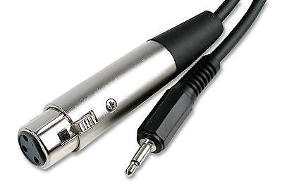 2M XLR Socket Female to 3.5mm Mono Jack Plug Male Cable Audio...
