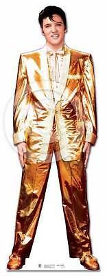 Elvis Presley Gold Anzug Smoking Pappfigur Aufsteller