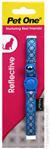 Collar Cat/Kitten Nylon Reflective Blue 10mm - Aussie Seller