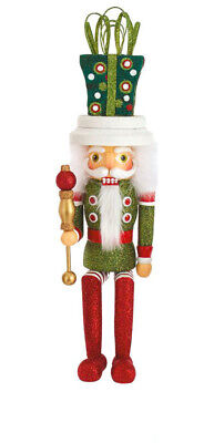 [Kurt Adler Hollywood Nutcracker - Shelf Sitter Decorated Gift Hat Nutcracker</Title]