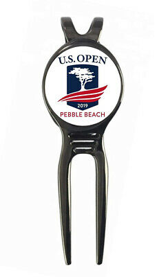 2019 US Open Pebble Beach Golf Ball Marker + Black Gunmetal Divot Tool