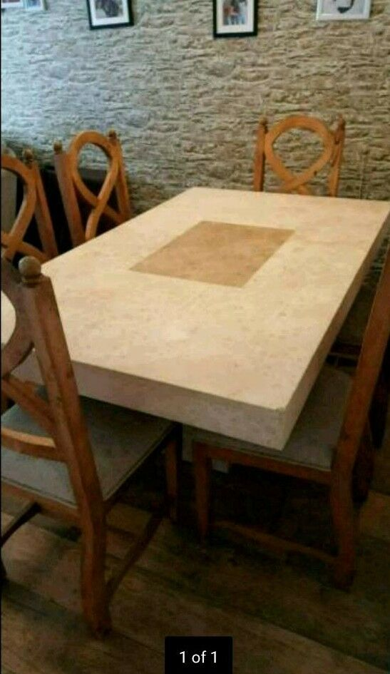 Real Marble table and chairs