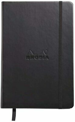 Rhodia Webnotebook Lined A5 Black Cover 5.5x8.25 New