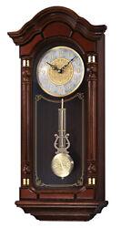 Seiko Analog Quartz Mahogany Finished Oak Case Chiming Wall Clock QXH004BLH