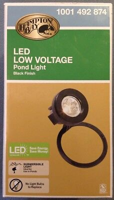 Low Voltage Pond - Hampton Bay - Low Voltage Pond Light | LED | Submersible | BLACK | #1001 492 874