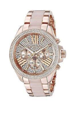 NEW Michael Kors MK6096 Wren Blush Rose Gold Crystal Ladies Watch