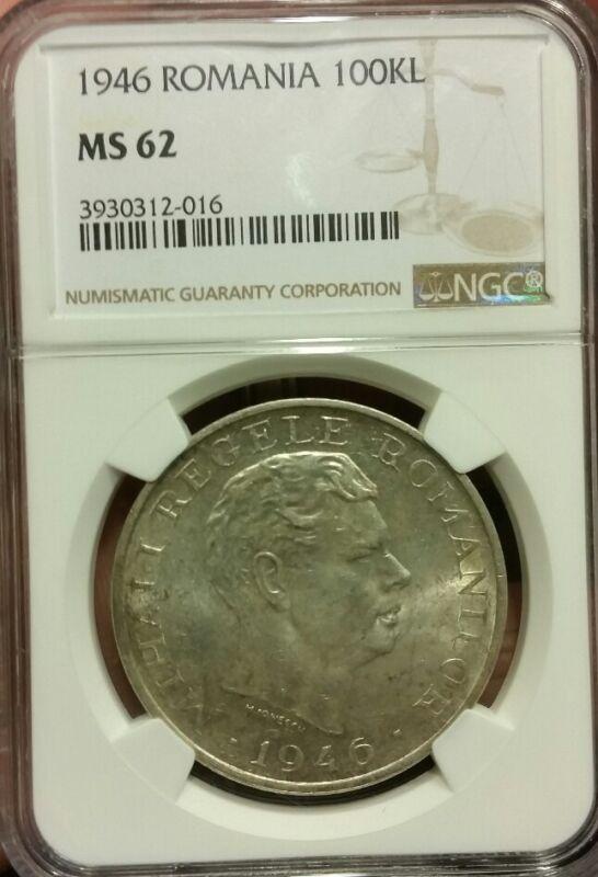 1946 Romania 100000 LEI.,NGC MS62