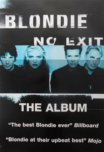 "40x60"" HUGE SUBWAY POSTER~Blondie 1999 No Exit Album Release Deborah Harry NOS~"