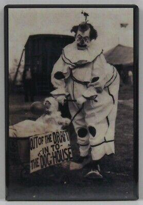 Old Circus Clown B & W Photo 2