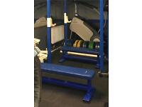 Heavy duty fixed flat bench x 2