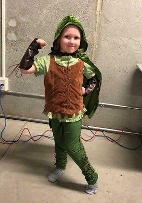 GIRLS ROBIN HOOD COSTUME SIZE MEDIUM - Robin Hood Costume For Girls
