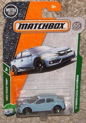 2018 Matchbox Car #7 '17 Honda Civic Hatchback Blue 65th MOC 1/64 Japan JDM 2017 na sprzedaż  Wysyłka do Poland